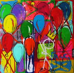 Ferreira David, Technique mixte, Ballons.